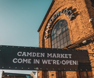 Camden Lock We're Open