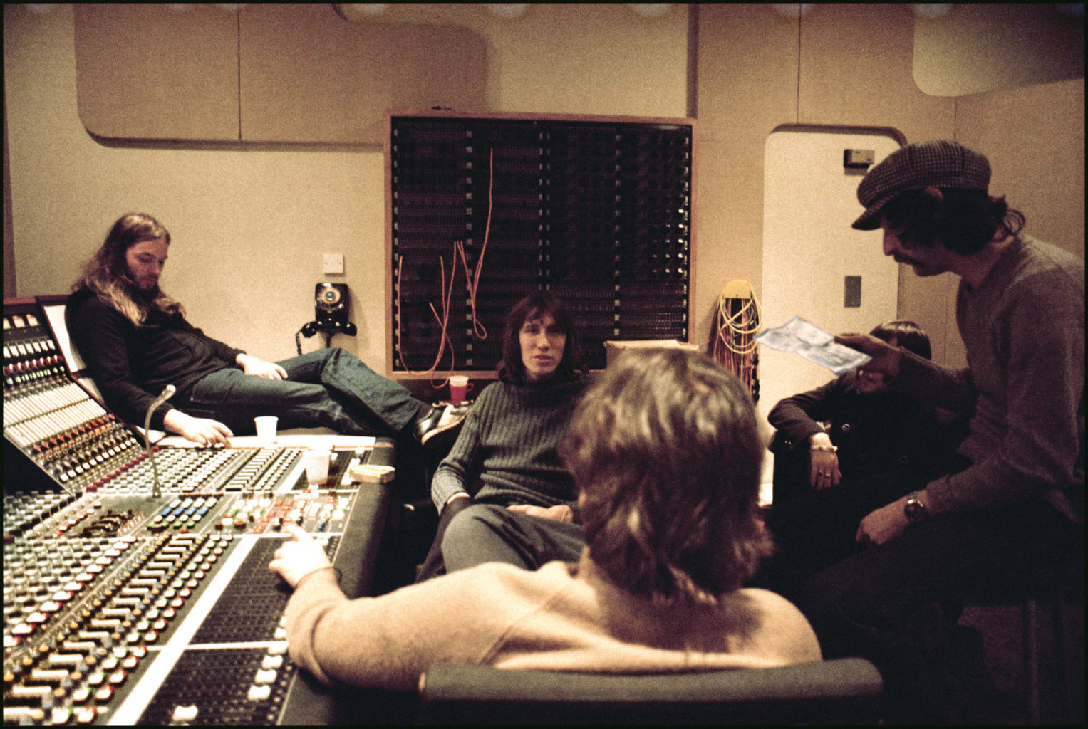Pink Floyd recording Wish You Were Here at Abbey Road 1975
