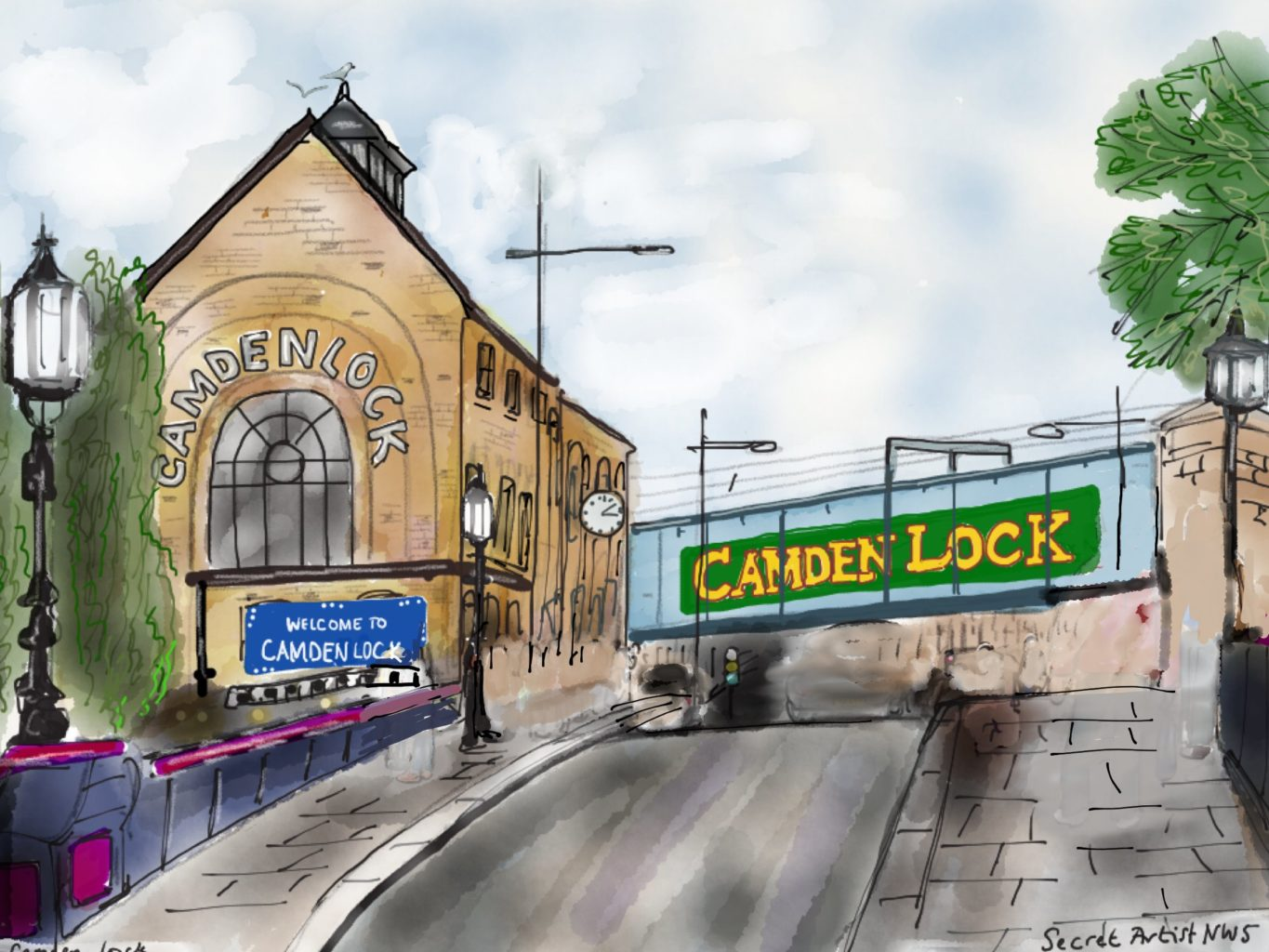 Camden Town Before and After by The Secret Artist